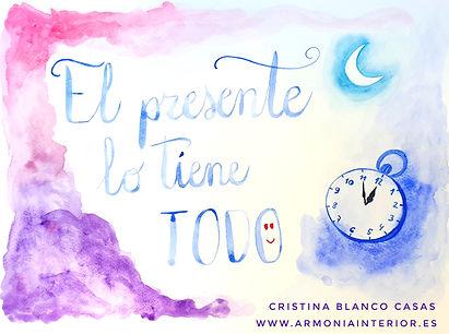 El presente lo tiene todo. Acuarela by Cristina Blanco Casas