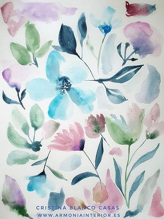 Conjunto floral 2. Acuarela by Cristina Blanco Casas