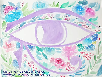 El ojo derecho de Horus. Sakh Majat.Acuarela by Cristina Blanco Casas