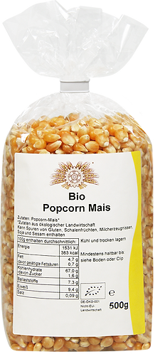 Bio Popcorn-Mais