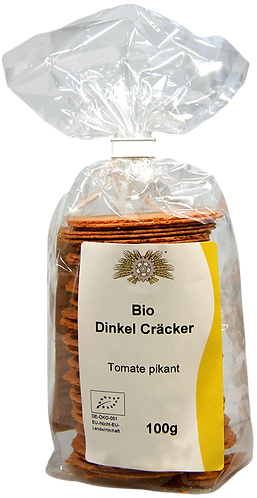 Bio Dinkel-Cräcker Tomate pikant