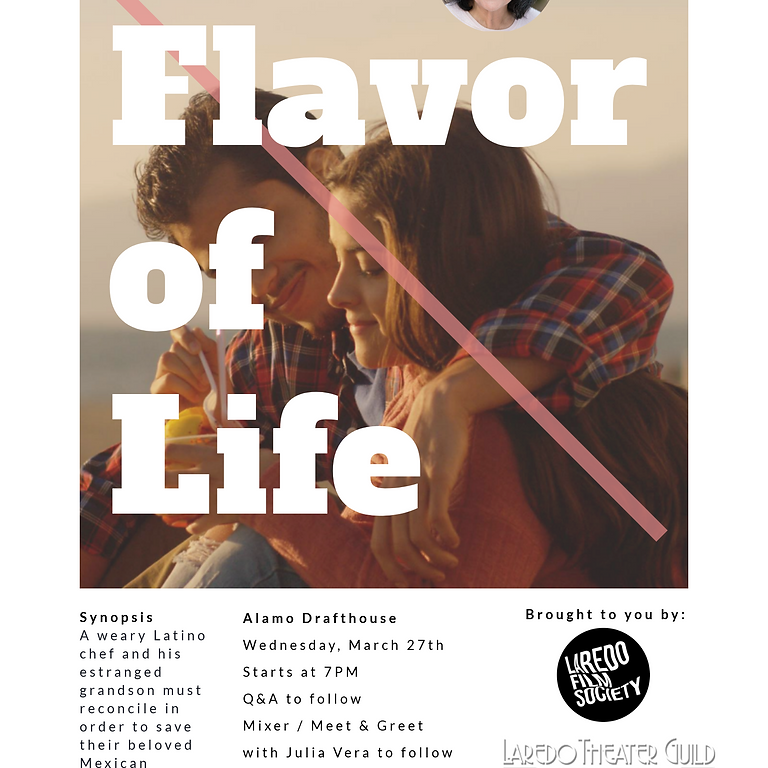 FLAVOR OF LIFE Screening and Q+A with Julia Vera!