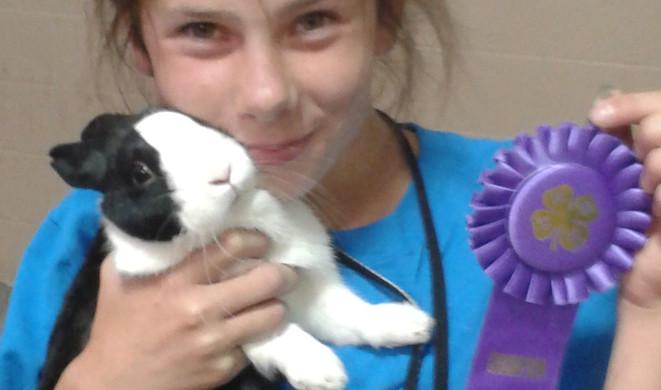 Olivia winning champion