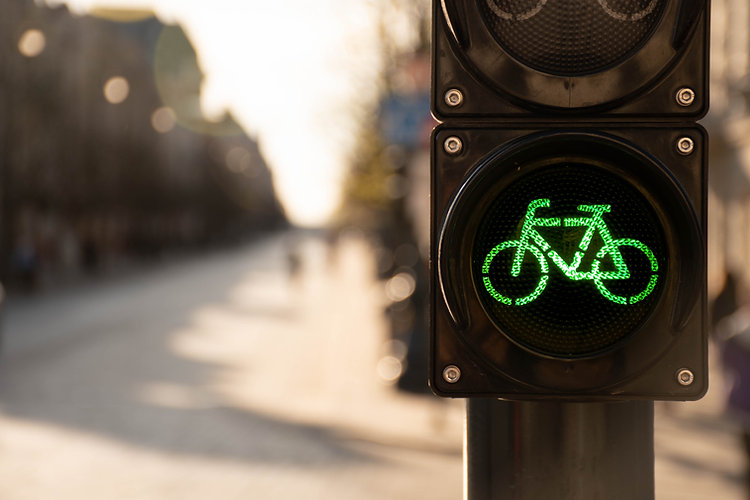 Sustainable transport. Bicycle traffic s