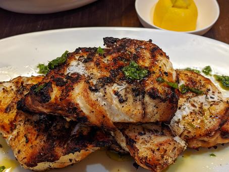 Grilled Grouper with Basil Salsa Verde