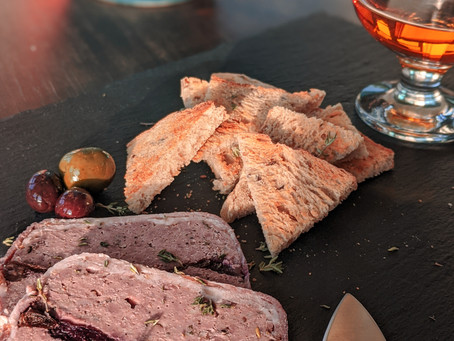 Venison Terrine with Cognac Cherries