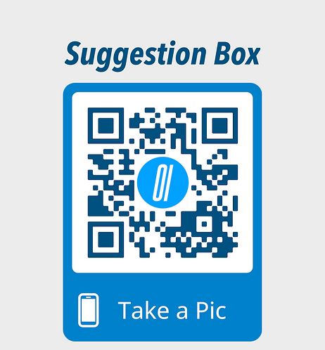 Wall-mounted Suggestion Box QR codes