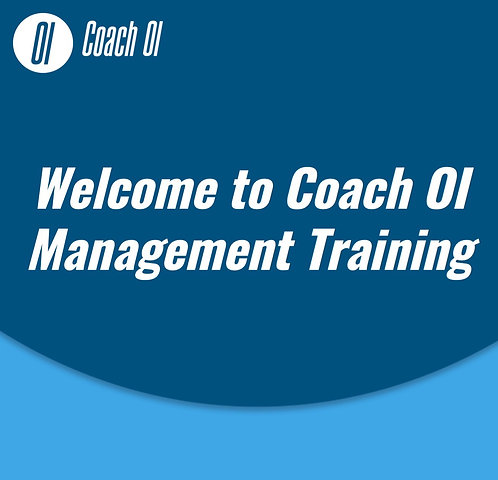 Coach OI™ Team Training Presentation