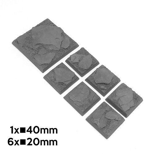 20mm+40mm Mountain Square Bases
