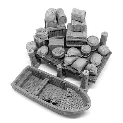 Пирс, лодка и набор для переезда