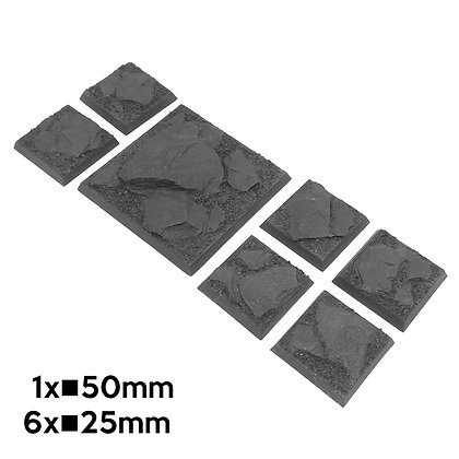 25mm+50mm Mountain Square Bases