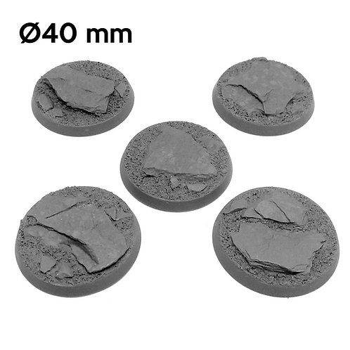 40mm Mountain Round Bases