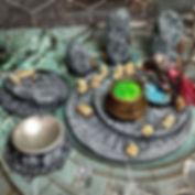 Sacrificial Altar, Magic Circle & Witch