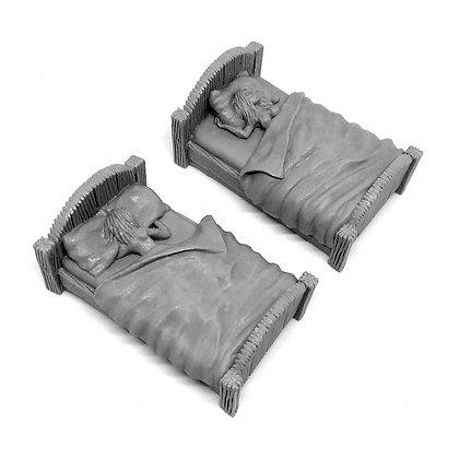 Кровати с барышнями