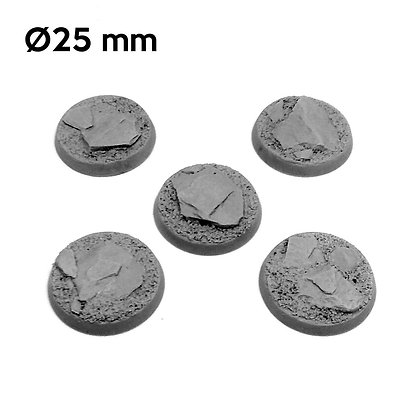 25mm Mountain Round Bases