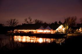 Five Oaks Lodge at Night