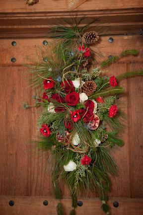 Front Door Christmas Floral