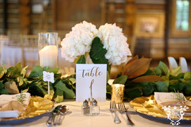 Dining Tables: White Polyester Napkins: White Cotton Gold Chargers, Gold Chiavari Chairs Cake Table: Glitz and Glimmer Sequins in Nude  Photo Credit: Sarah Baker Photos | https://sarahbakerphotos.shootproof.com/