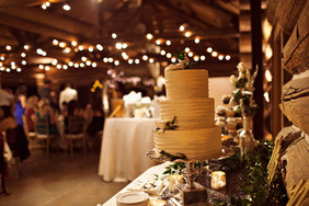 White Majestic with Silver Sequin Table Runner Cakes by Antionette Cakes Photo Credit: Samantha Kurtz Photography