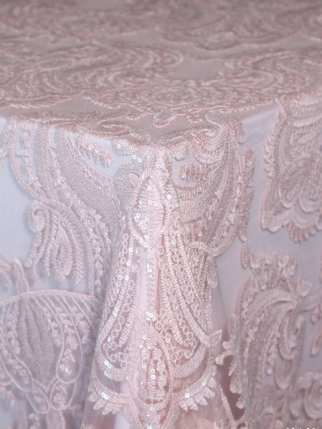 Blush Liza Lace (over Ice Pink Polyester)