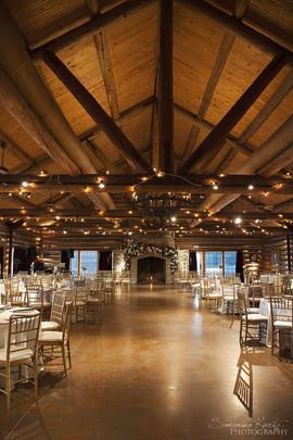 Lodge Ceremony & Reception Setup