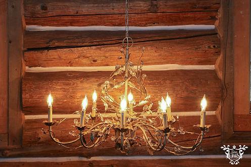 Oblong Ivory Crystal Chandelier 8 Light.