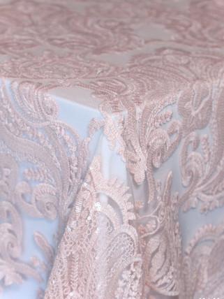 Liza Lace Blush (over white polyester)