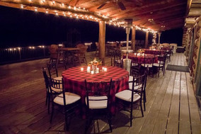 Dining Tables: Custom printed buffalo check pattern Chairs: Mahogany Chiavari Floral: Toni's Flowers and Gifts Photo Credit: Ace Cuervo Photographer