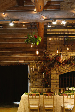 Head Table with Hanging Floral