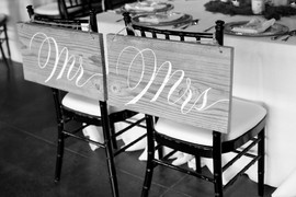 Bride and Groom Chair Detail