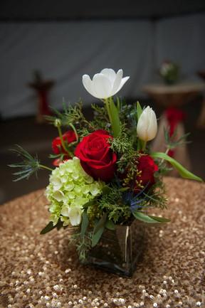 Christmas Floral on Bistro Table