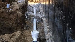 Installation de drain et membrane