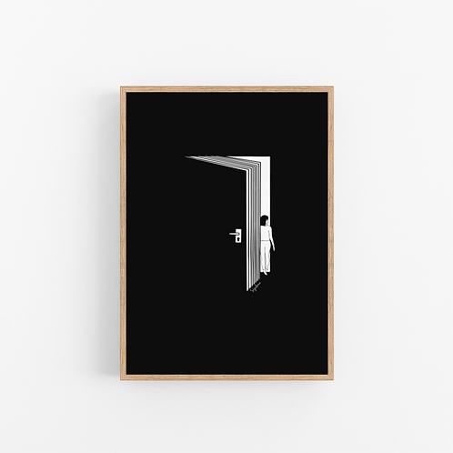 הדפס איור -Escape room