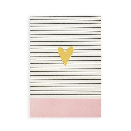 Notebook - Gold heart