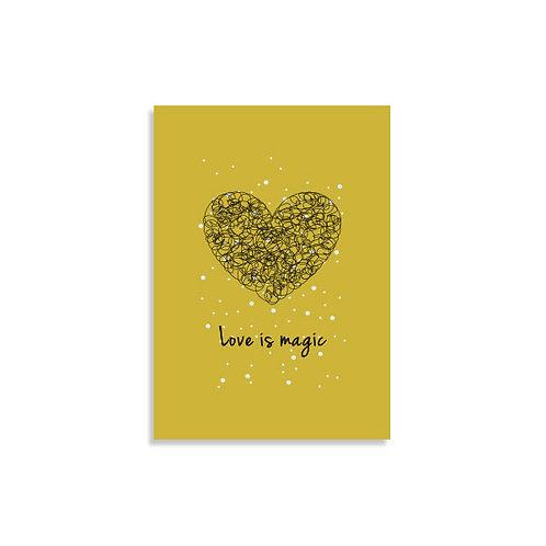 הדפס איור - Love is magic