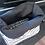 Thumbnail: סל אחסון מלבני הדפס בד משולשים שחור לבן  - בטנה שחורה