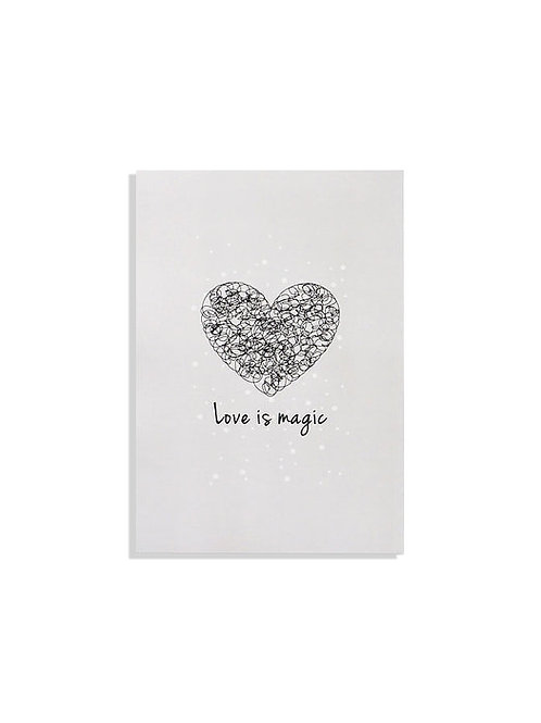 Notebook -  Love is magic - Grey