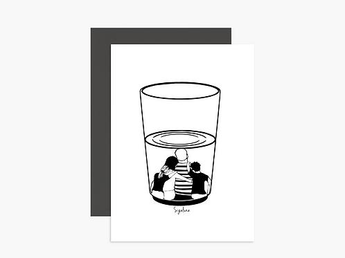 גלויה - The half full glass