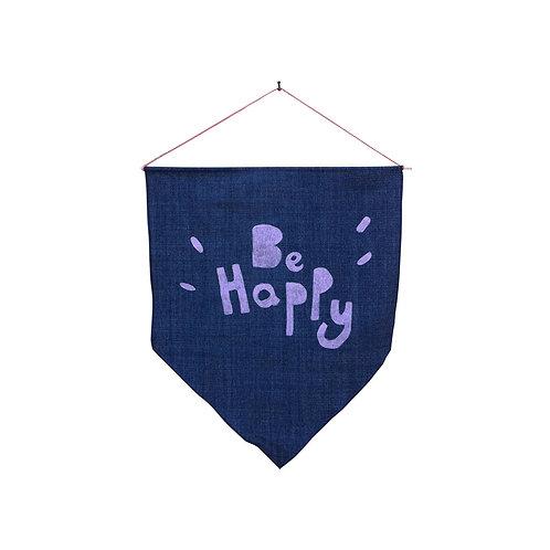 Denim Flag Silk Printed - Be happy