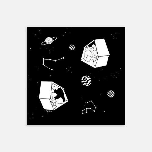הדפס איור - Lost in Space