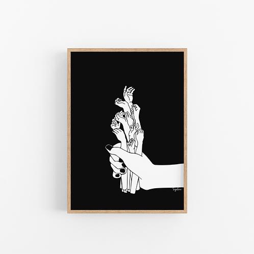 הדפס איור - באלה הידיים