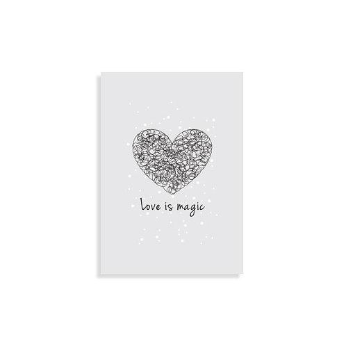 הדפס איור מקורי - Love is magic