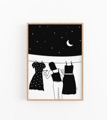 הדפס איור - Girl's Night Out