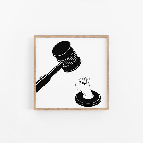 הדפס איור - Praying for justice