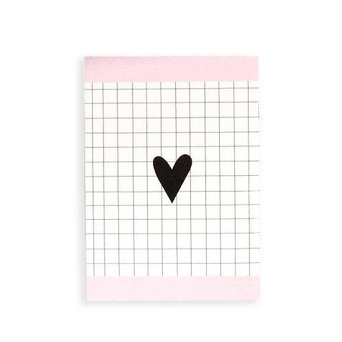 Notebook - Black heart