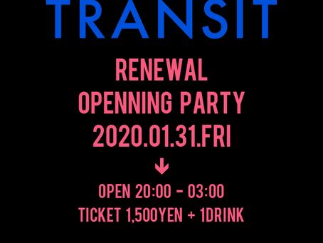 1/31(金)|Club&Live TRASNIT Renewal Openning Party