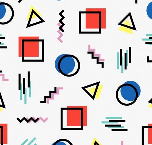 Formes géométriques colorées art Paris