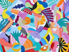 Art abstrait coloré Paris