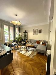 Convivial espace commun d'un appartement en coliving Paris