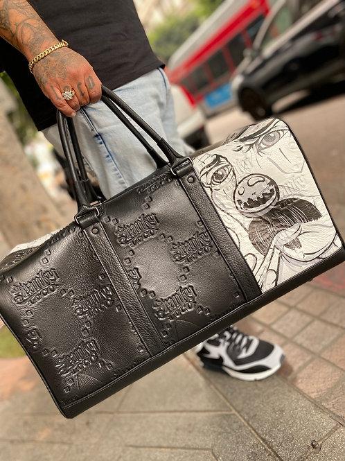 SPANKY LOCO - CUSTOM LEATHER DUFFLE BAG
